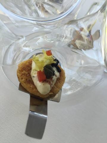 Gennaro Esposito, Pancake di mai con baccalà mantecato