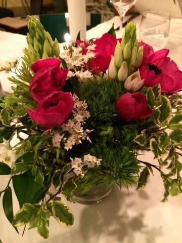 La Locanda del Borgo, i fiori a tavola