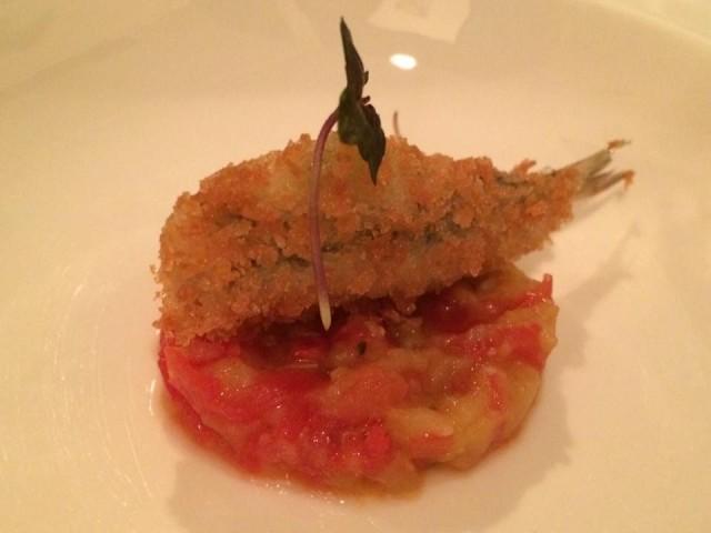 La Locanda del Borgo, alice fritta con pomodoro e melanzane