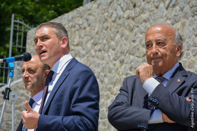 CASA DEL GUSTO, Luigi Mansi, sindaco di Scala (sin), Raffaele Ferraioli, sindaco Fuorore (dx)
