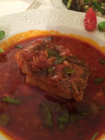 Chraime fish in paprika, chili and garlic