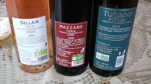 Controetichette Vini di Colli della Murgia