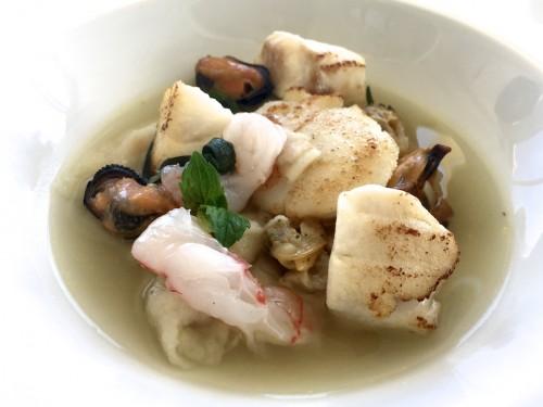 Zuppa ai frutti di mare