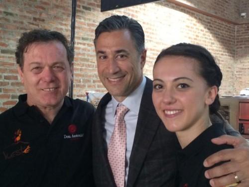 Giorgia e Roberto Caporuscio con Fred Mortati, LSDM NY