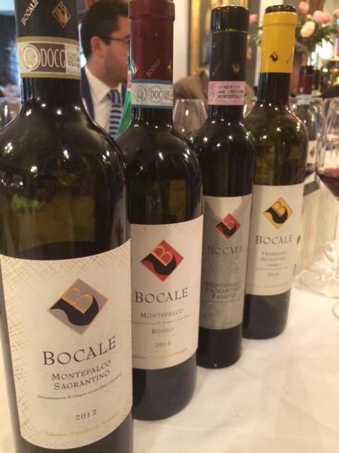 I vini dell'Az. Bocale di Valentini di Montefalco