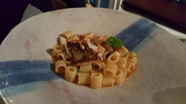 MARINA GRANDE, Tubettoni con scorfano e bottarga di tonno con peperoni di fiume