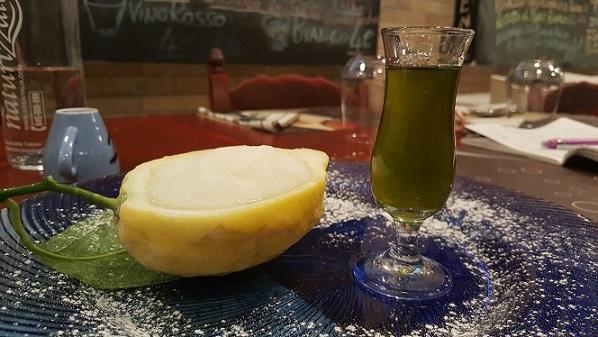 PINETA, Sorbetto a limone e liquore al finocchietto selvatico