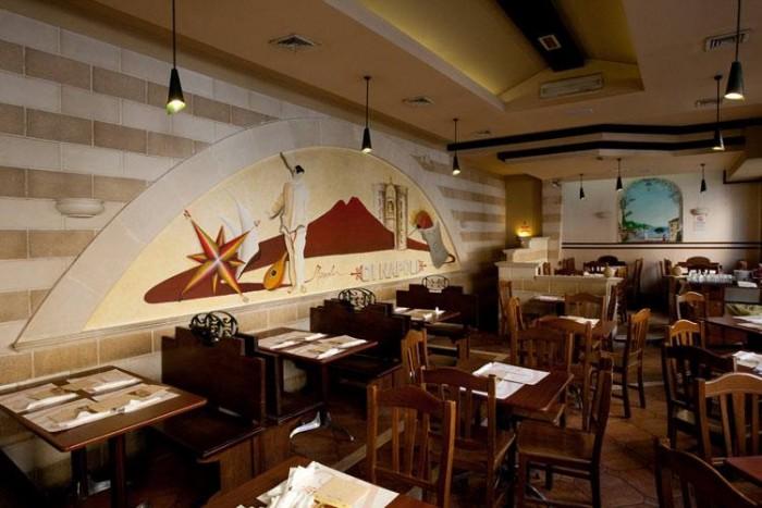 Pizzeria di Napoli, la sala