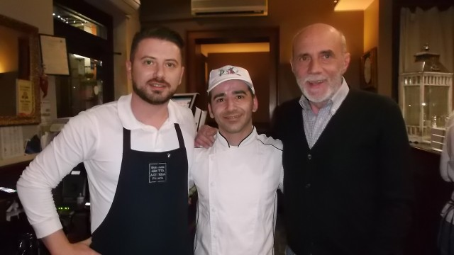 Ristorante Pizzeria Grotta Azzurra da sx Mauro Giordano, Giuseppe Frau e Mario Giordano