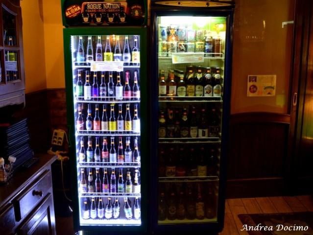 Sturgis Beerhouse a Brusciano. I due frigoriferi delle birre
