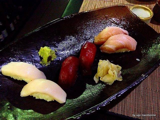 Tender Sushi Bar Nigiri spigola tonno riccola