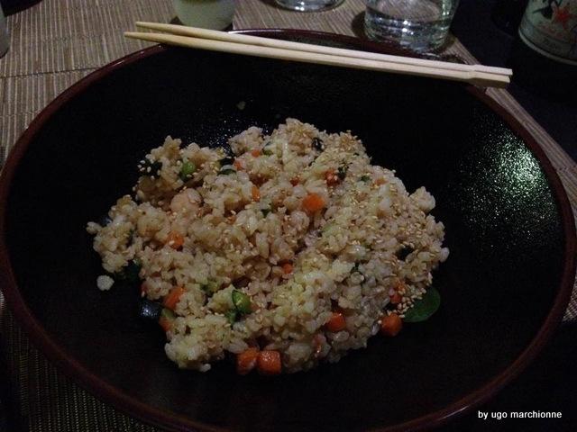 Tender Sushi Bar  sakeyaki riso