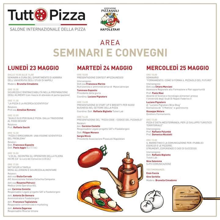 Il programma dei convegni Tutto Pizza