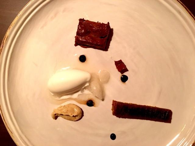 Cioccolato, caffè e platano, gelato e granita di whisky 2013