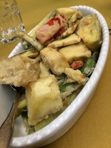 La Gatta Mangiona, il fritto vegetale