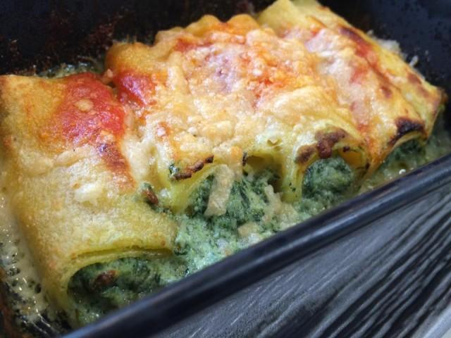 Mò Mò, i cannelloni con spinaci e ricotta