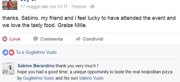 pizza acqua mare Guglielmo Vuolo Facebook