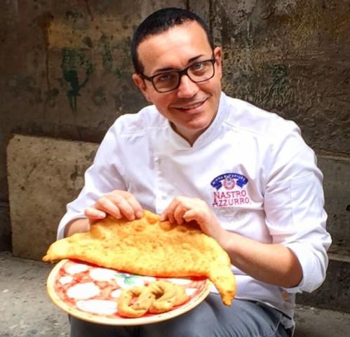 Pizza fritta provola tarallo