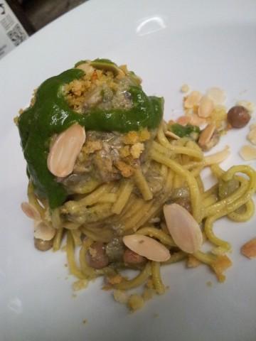 Spaghetti con le sarde e finocchietto Peppe Barone Fattoria delle Torri