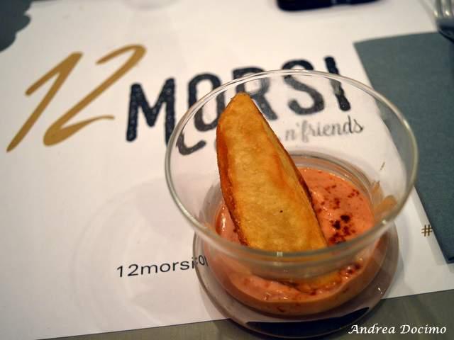 1 CHEF, 2 STELLE, 3 PANINI con Francesco Sposito da 12 Morsi. Spicchi di patate in doppia cottura con salsa fatta in casa da 12 Morsi
