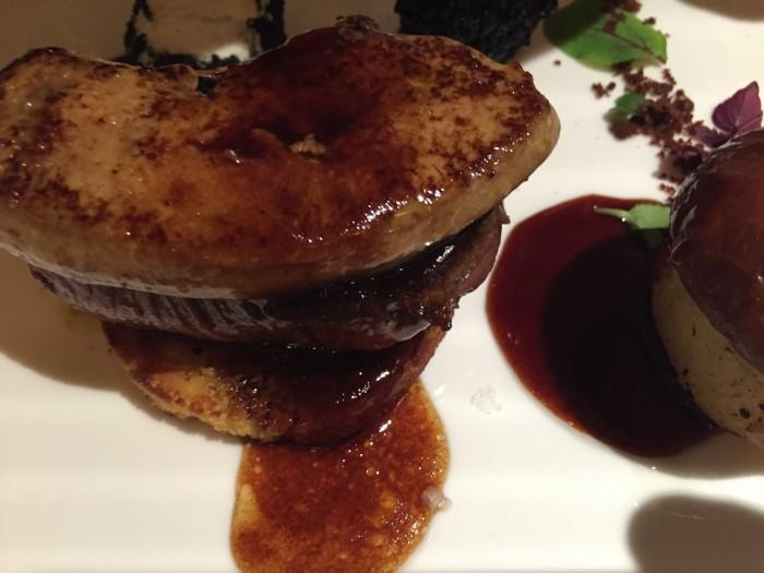 Tre Olivi, filetto di bufala e foie gras