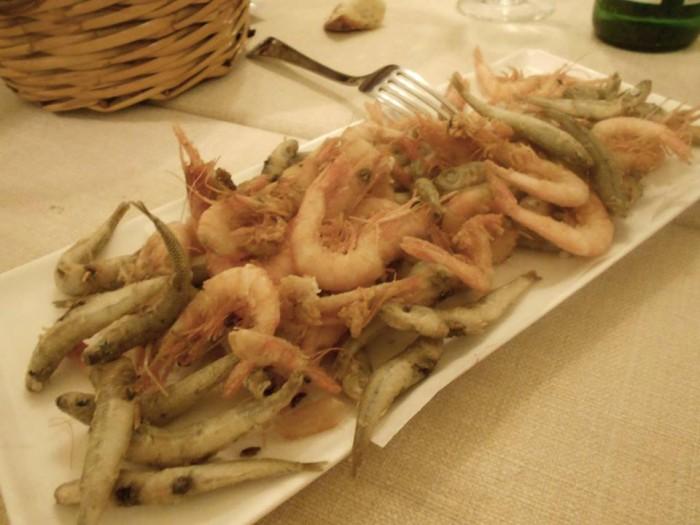 Fritturina di gamberetti e vope