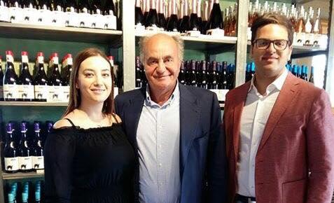 Andrea Pagano con il padre Peppino ed il fidanzato Antonello