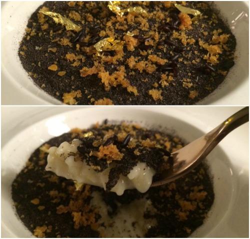 Indaco, trilogia di riso con bottarga e limone