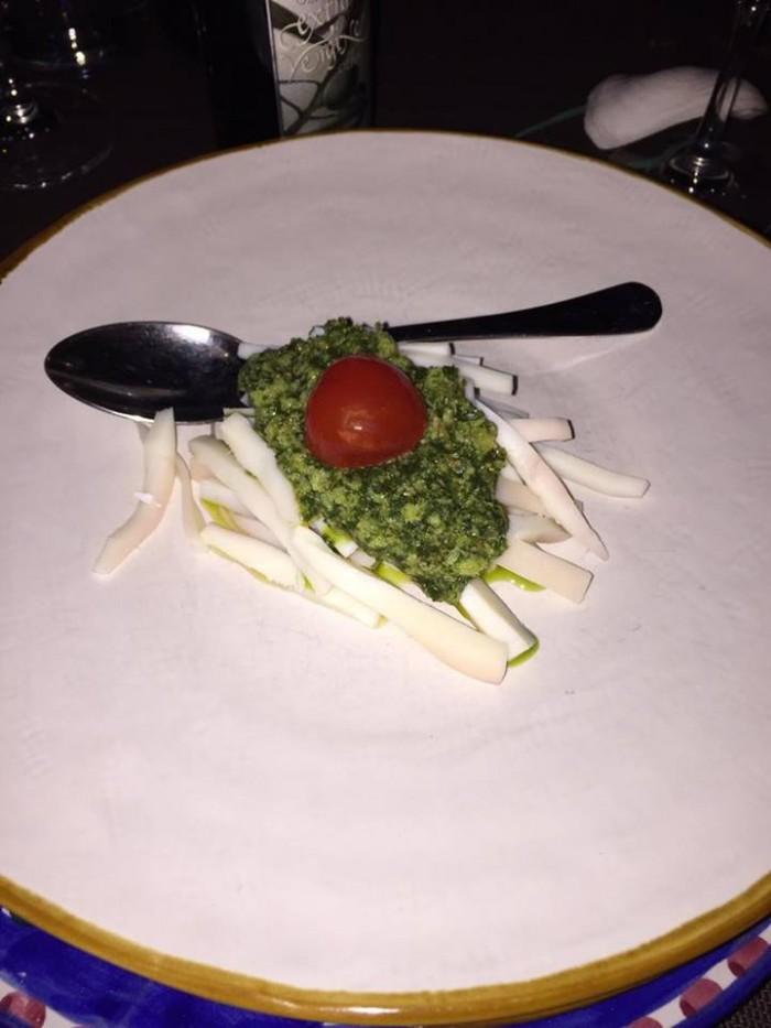L'Orestorante, Insalatina di Seppie su carciofi in salsa verde di capperi