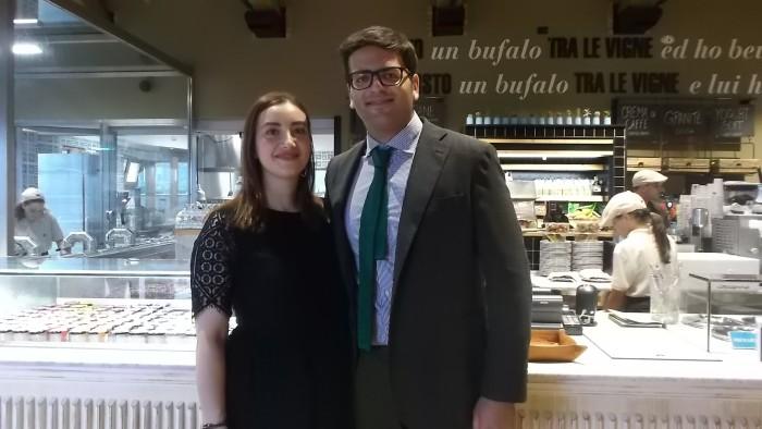 Andrea Pagano col fidanzato Antonello Ricco