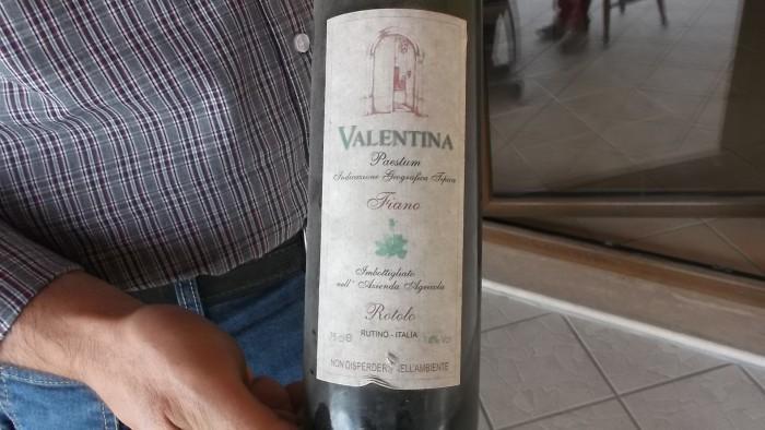 Azienda Alfonso Rotolo Vecchia bottiglia del 1999 di Fiano Valentina