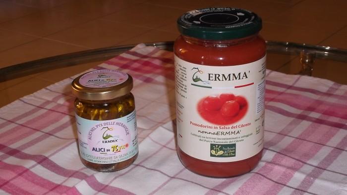 Azienda Ermma Alici e pomodorini in barattolo