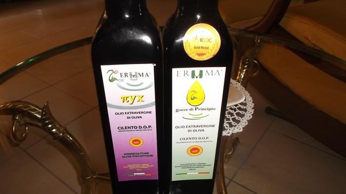 Azienda Ermma Bottiglie di olio evo Dop Cilento