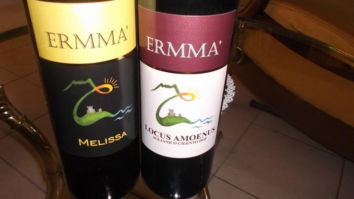 Azienda Ermma Vini rosso e bianco