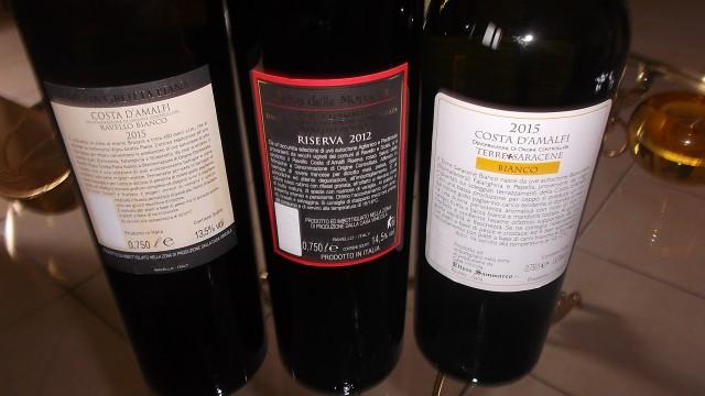 Controetichette Nuove annate vini di Ettore Sammarco