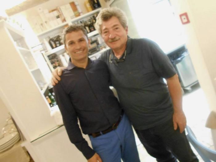 Diego Biancofiore, titolare del ristorante e Lello Tornatore
