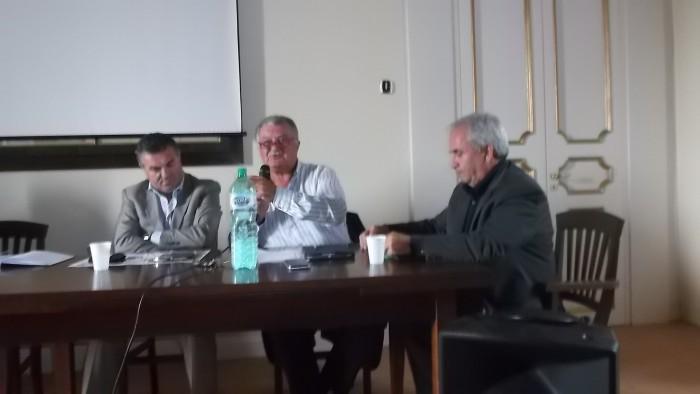 E' tempo di Aglianicone da sx Avv Franco Alfieri, Dr, Luigi Scorziello e Dr. Giuseppe Capo