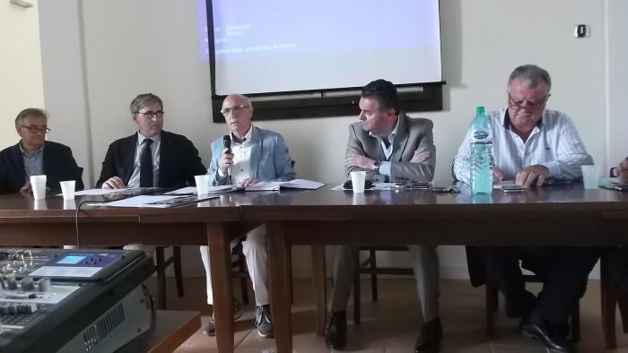E' tempo di Aglianicone da sx Prof. Nuzzo, Prof. Celano, Enrico Malgi, Avv, Alfieri e Dr. Scorziello-1