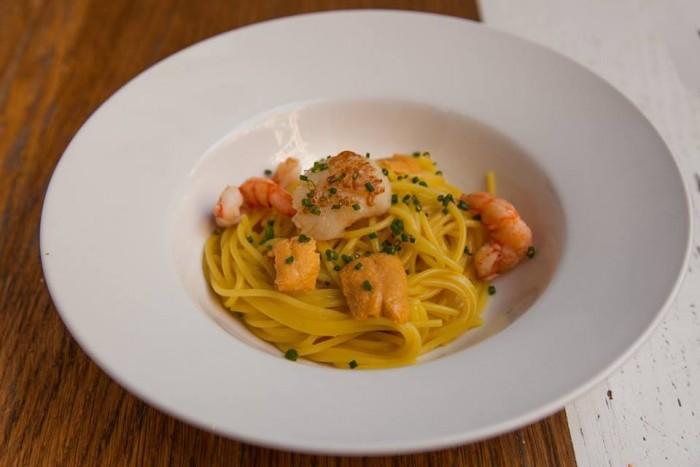 Matteo Calciati_Paola's_Spaghetti with saffrn and Shrimp
