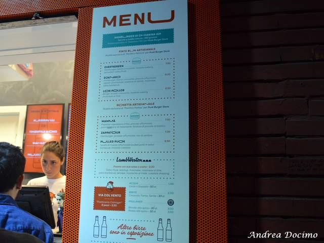 PUOK Burger Store al Vomero. Il menu