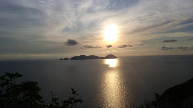 Palmarola al tramonto vista da localita Le Forna a Ponza