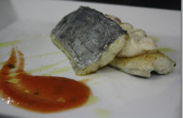 Pesce Bandiera con mousse di ricotta e pomodori secchi