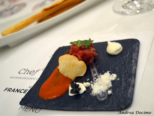 Piazzetta Milu Chef Experience con Sposito. Tartare di podolica