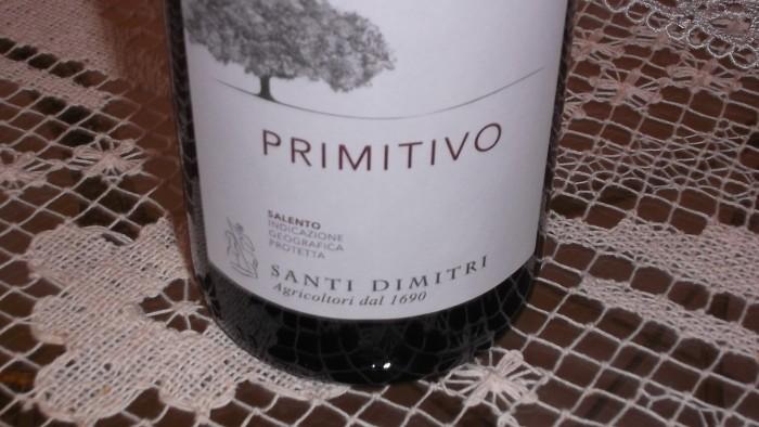Primitivo Salento Rosso Igp 2015 Santi Dimitri