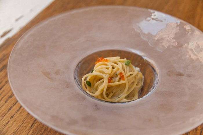 Riccardo Bilotta_A Voce_Spaghetti with Salt Cod and Squid Ink