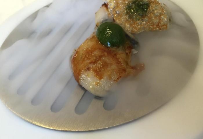 Tordomatto, ostriche, cotenna di maiale e copollotto fermentato