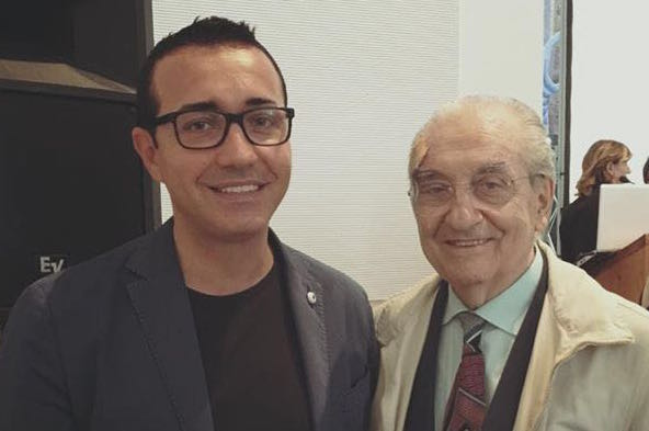 Gino Sorbillo e Gualtiero Marchesi