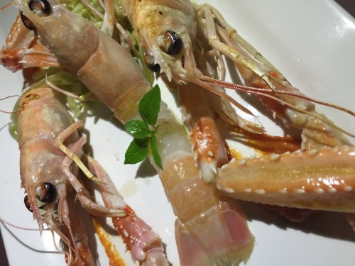 Fish Lab, crudo di scampi