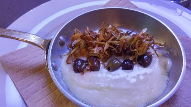 l'Agliara, Taleggio, olive taggiasche e carciofi croccanti