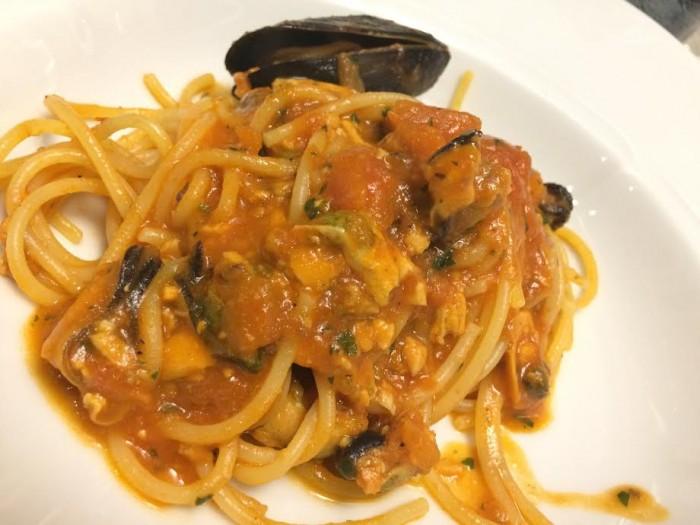 Spaghetti con ragu di Moscioli di Portonovo